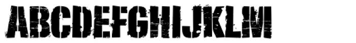 Lomidrevo Stencil Messy Font UPPERCASE
