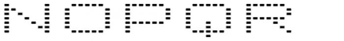 Lomo Wall Dot Std 52 Font LOWERCASE