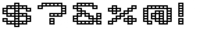 Lomo Wall Grid Std 52 Font OTHER CHARS