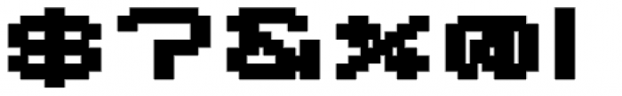 Lomo Wall Pixel Std 100 Font OTHER CHARS