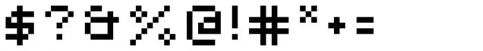 Lomo Web Pixel Std 5 Font OTHER CHARS