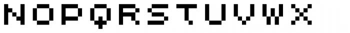 Lomo Web Pixel Std 5 Font LOWERCASE