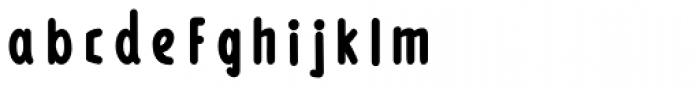 Loncherita Fill Font LOWERCASE