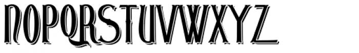 London Court Embossed Font UPPERCASE