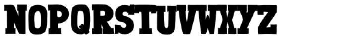 Londrina Black Serif Regular Font UPPERCASE