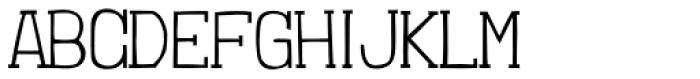 Londrina Thin Serif Regular Font UPPERCASE