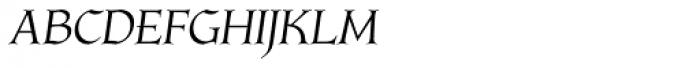 Longa Iberica Italic Font UPPERCASE