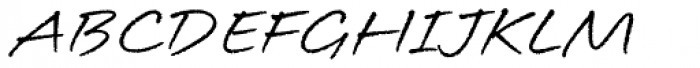 Longhand Font UPPERCASE