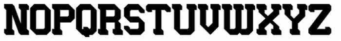 Longhorn 3D Fill Font UPPERCASE