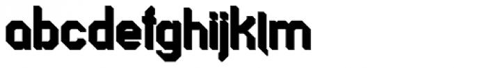 Longhorn 3D Fill Font LOWERCASE