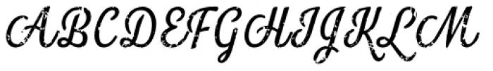 Look Script Rough Regular Font UPPERCASE