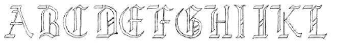 Lore Nekromantea Hollow Font UPPERCASE