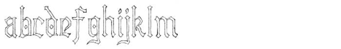 Lore Nekromantea Hollow Font LOWERCASE