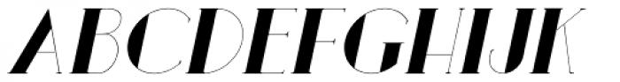 Loreen Hollywood Bold Italic Font UPPERCASE