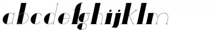 Loreen Hollywood Bold Italic Font LOWERCASE