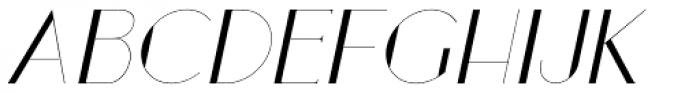 Loreen Hollywood Sans Italic Font UPPERCASE