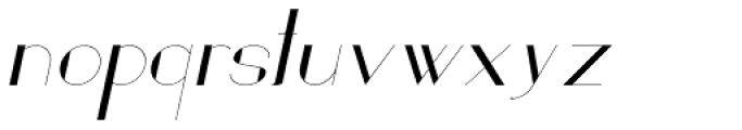 Loreen Hollywood Sans Italic Font LOWERCASE