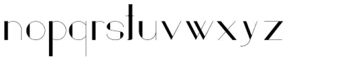 Loreen Hollywood Sans Font LOWERCASE