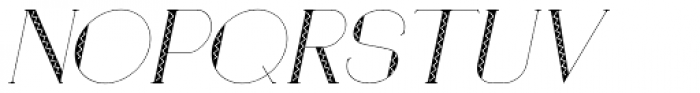 Loreen Hollywood Zick Italic Font UPPERCASE