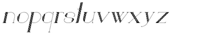 Loreen Hollywood Zick Italic Font LOWERCASE