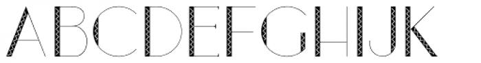 Loreen Hollywood Zick Sans Font UPPERCASE