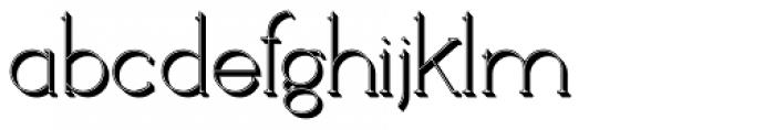 Loreen Shadow Font LOWERCASE