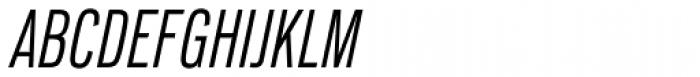 Lorimer No 2 Condensed Light Italic Font UPPERCASE