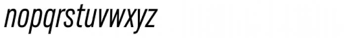 Lorimer No 2 Condensed Light Italic Font LOWERCASE