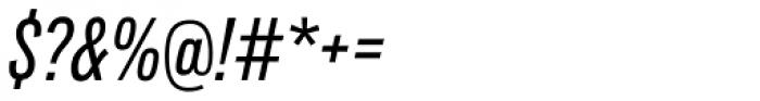 Lorimer No 2 Condensed Medium Italic Font OTHER CHARS