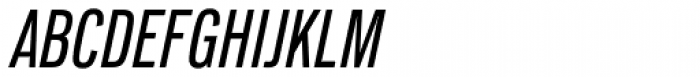 Lorimer No 2 Condensed Medium Italic Font UPPERCASE