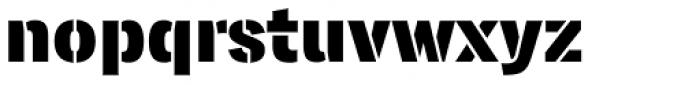 Lorimer No 2 Stencil Font LOWERCASE