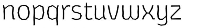 Los Lana Niu Alt Essential Light Font LOWERCASE