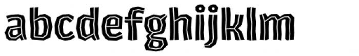 Los Lana Niu Essential Inline Font LOWERCASE
