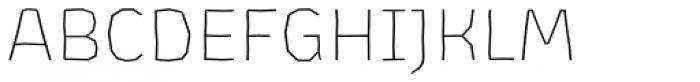 Los Lana Niu Small Caps Thin Font LOWERCASE