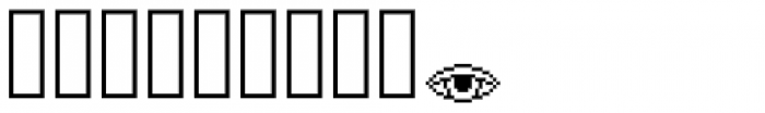 Lost Arcade Symbols Font OTHER CHARS