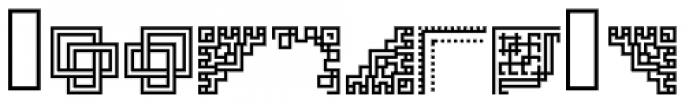 Lost Arcade Symbols Font UPPERCASE