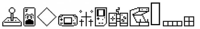 Lost Arcade Symbols Font LOWERCASE