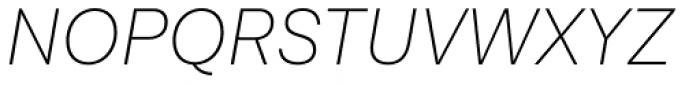 Lota Grotesque Alt 3 Extra Light Italic Font UPPERCASE
