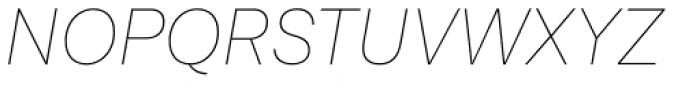 Lota Grotesque Alt 3 Thin Italic Font UPPERCASE