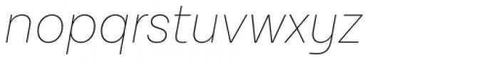 Lota Grotesque Alt 3 Thin Italic Font LOWERCASE
