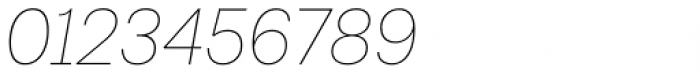 Lota Grotesque Thin Italic Font OTHER CHARS