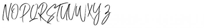 Lottekas Brush Regular Font UPPERCASE
