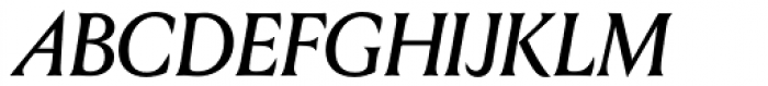 Louize Display Medium Italic Font UPPERCASE