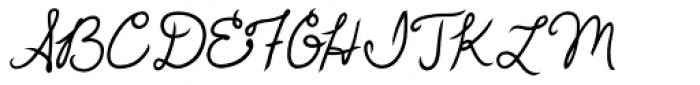 Love Me Font UPPERCASE