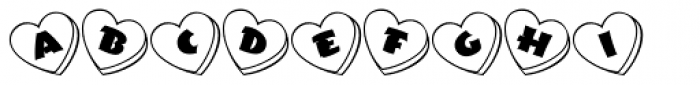 Love Notes JNL Font LOWERCASE