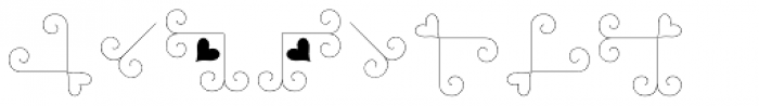 Love Story Dingbats Font OTHER CHARS
