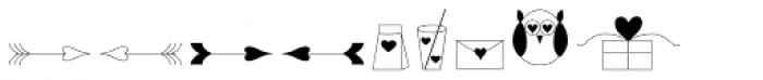 Love Story Dingbats Font UPPERCASE