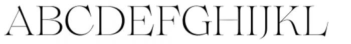 Lovelace Extralight Font UPPERCASE