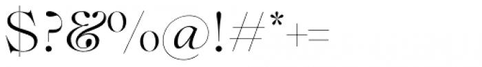 Lovelace Light Font OTHER CHARS