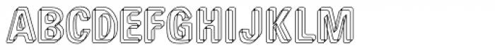 Low Tech Regular Font UPPERCASE